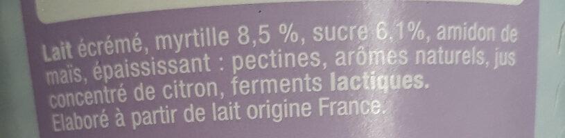 Skyr myrtille - Ingrédients - fr