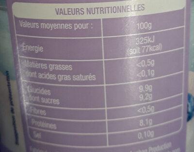 Skyr myrtille - Informations nutritionnelles - fr