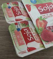 Yaourts au soja sur lit de fraise aromatisée - Product - fr