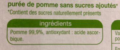 Pomme sans sucre Ajoutés - Ingredients - fr