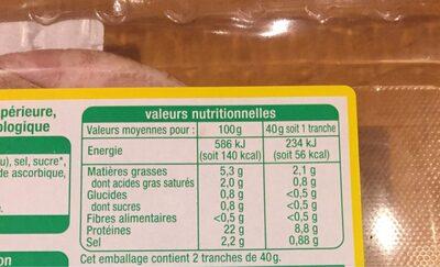 Rotie de porc - Informations nutritionnelles - fr