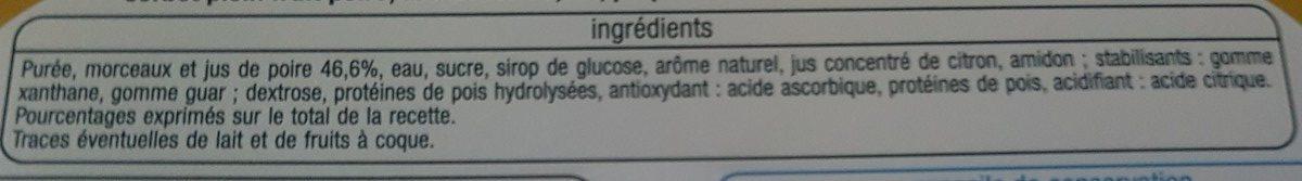 Sorbet Poire - Ingrediënten