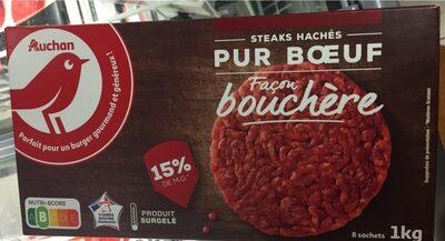 Steaks hachés pur boeuf façon bouchère - Produit - fr