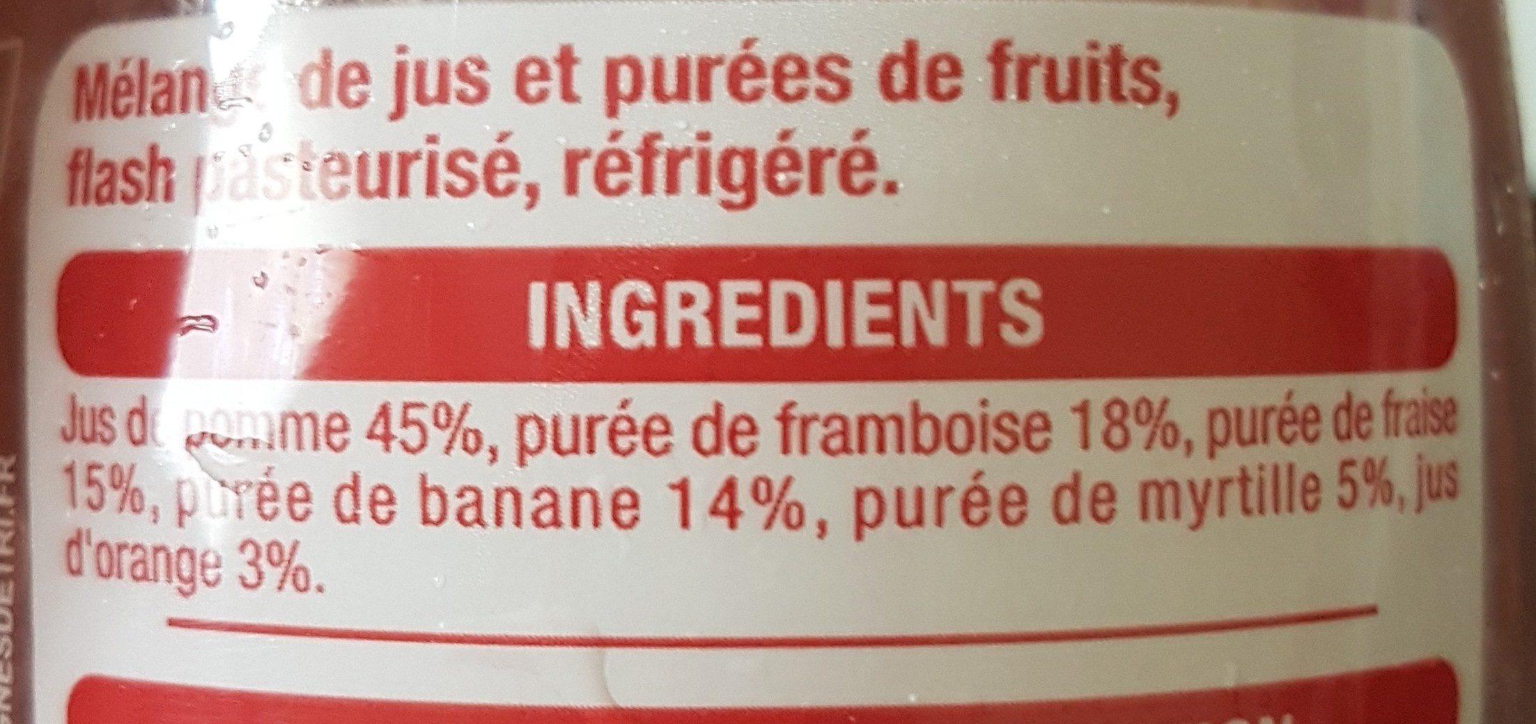 Smoothie framboise fraise myrtille - Ingrediënten - fr