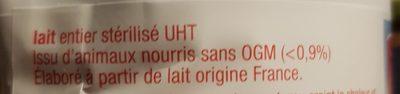 Lait équitable - Ingrédients - fr