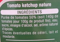 Ket'chup! - Ingrédients - fr