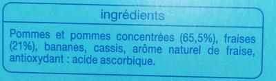 Compote pomme fraise - Ingrédients