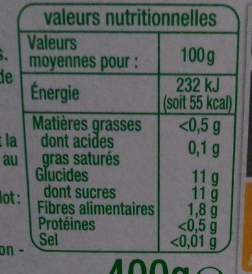 Purée pomme poire - Nutrition facts