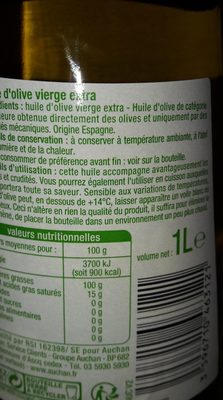 Huile d'olive vierge extra Puissante - Ingredienti - fr