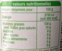 Huile d'olive vierge extra Puissante - Valori nutrizionali - fr