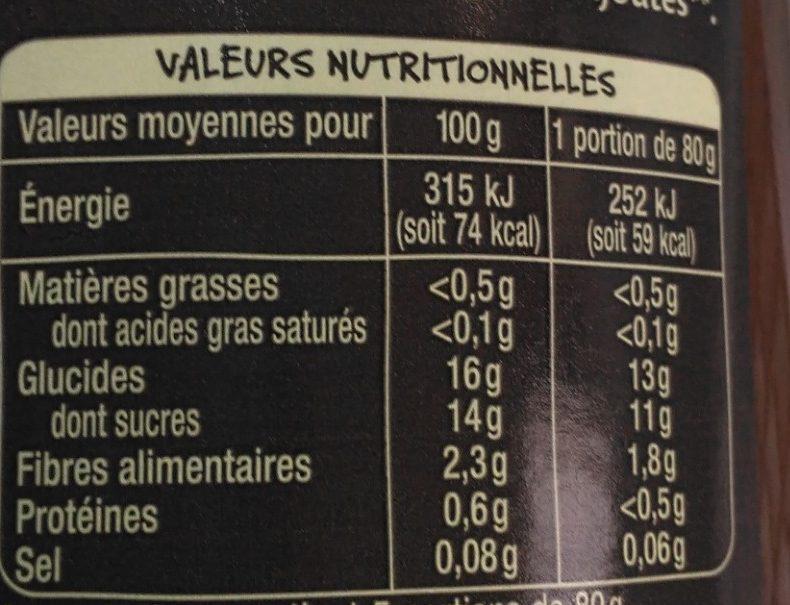 Purée de pommes et pruneau du Sud-Ouest - Informations nutritionnelles - fr