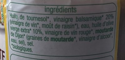 Sauce Vinaigrette - Ingredients