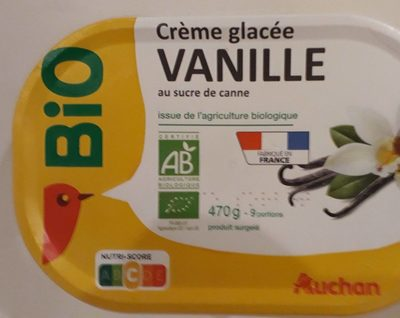 Crème glacée vanille au sucre de canne - Produit