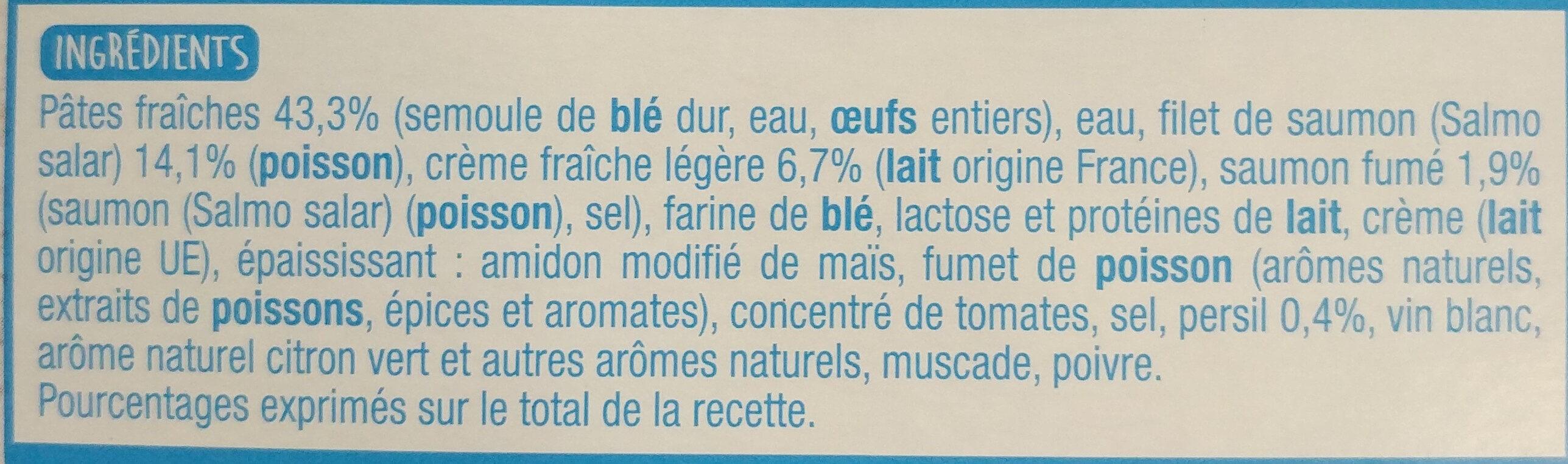 Tagliatelles au Saumon - Ingredients