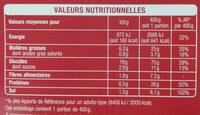 Nouilles sautées au poulet - Informations nutritionnelles - fr