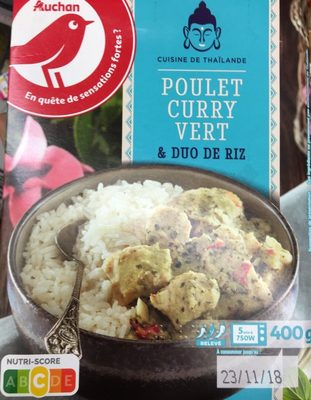 Poulet curry vert et duo de rix - Product - fr