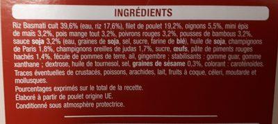 Sauté de légumes au poulet - Ingrediënten