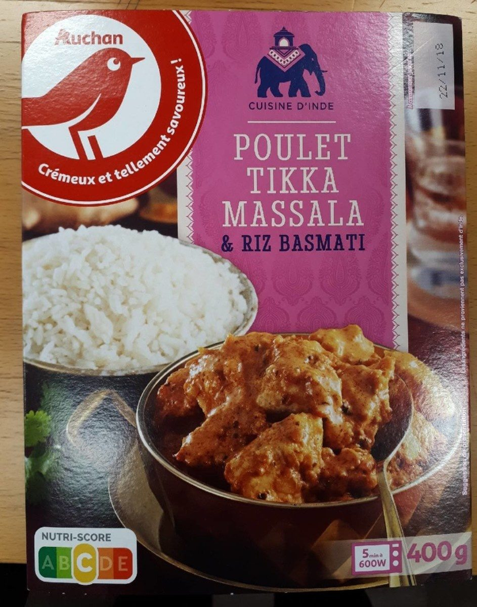 Poulet Tikka Massala & Riz basmati - Produit