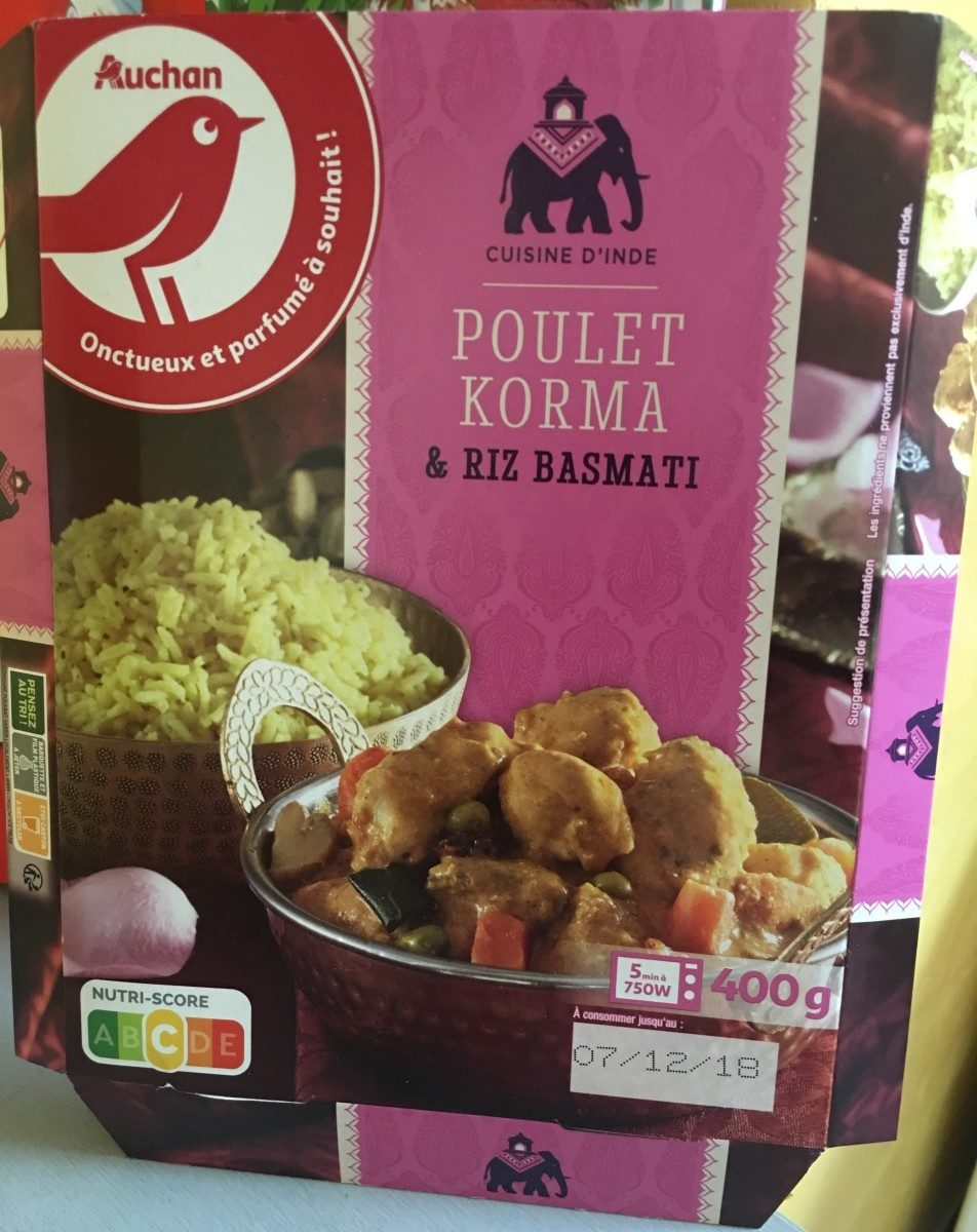 Poulet korma & riz basmati - Produit