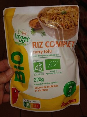 Riz complet curry tofu - Prodotto - fr