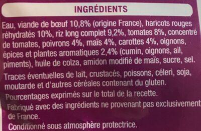 Riz façon chili - Ingrediënten - fr