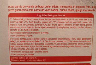 Pizza Bolognaise - Ingrédients