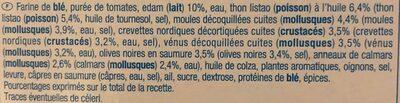 Pizza fruit de mer - Ingredients - fr