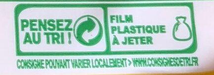 Beurre moulé demi-sel bio - Instruction de recyclage et/ou informations d'emballage - fr