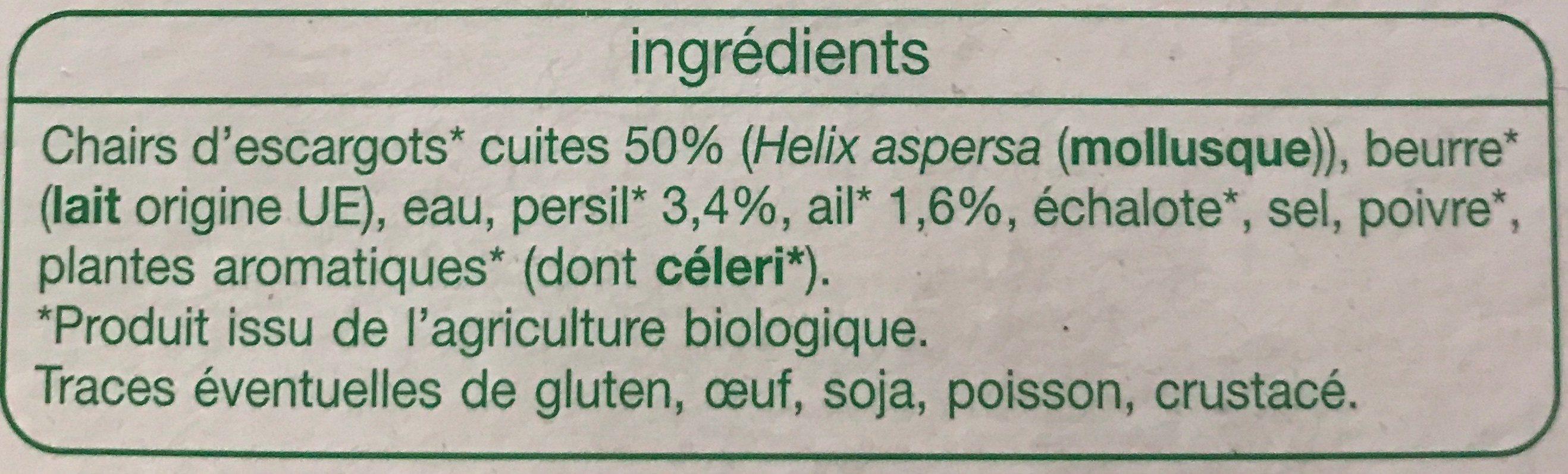 Escargots bourgnonne - Ingrédients - fr
