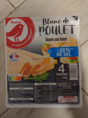 Blanc de poulet doré au four - Produit - fr