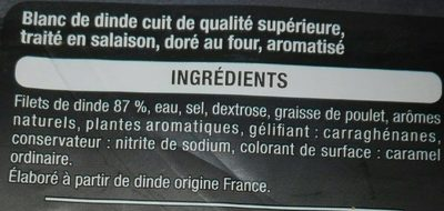 Blanc de dinde - Doré au four - Ingrediënten - fr