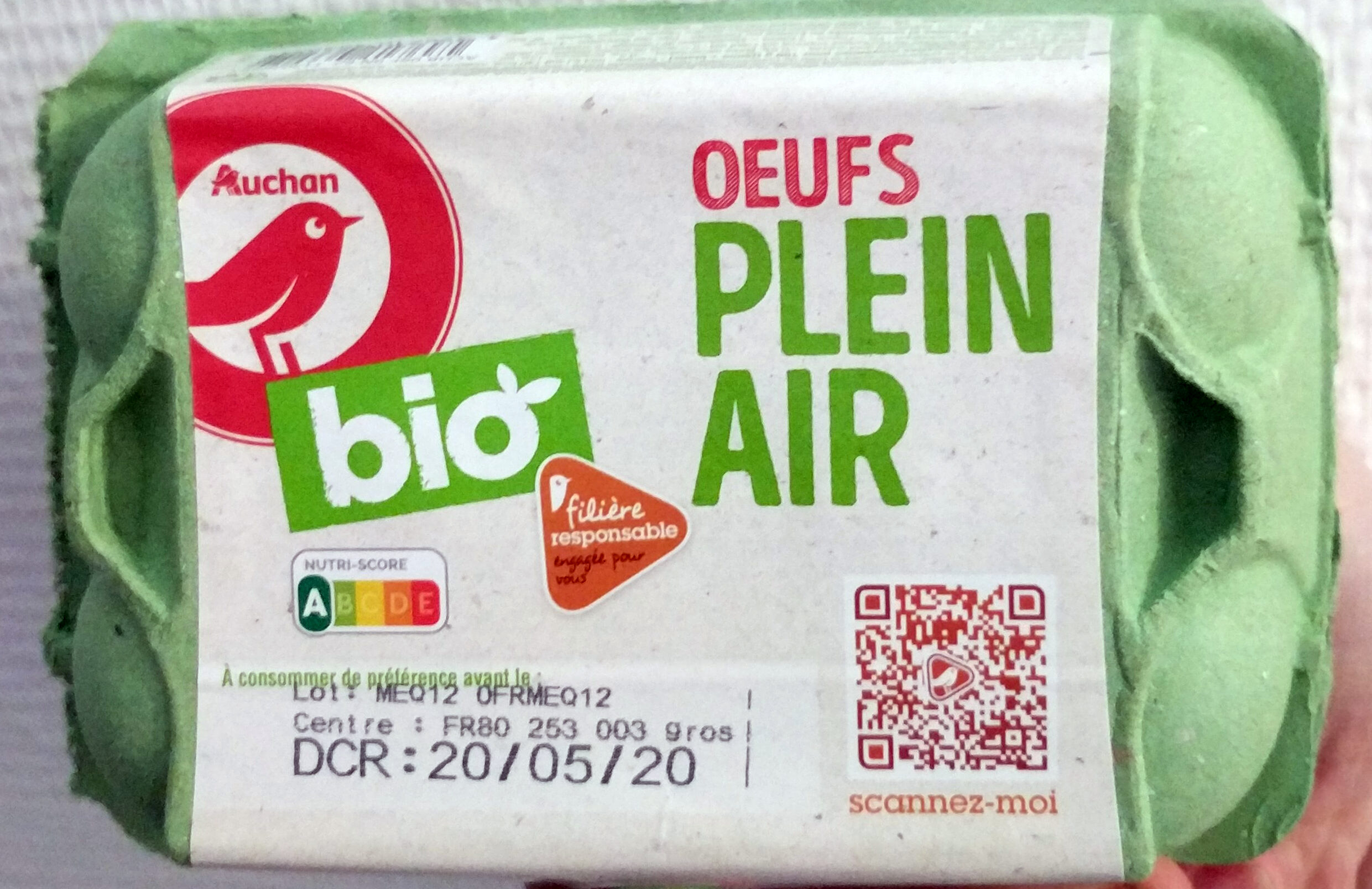 Oeufs Plein air Bio - Produit - fr