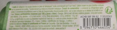 Oeufs Plein air Bio - Ingrédients - fr