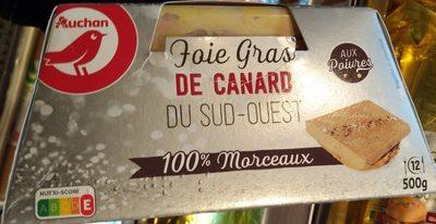Foie Gras de Canard du Sud-Ouest 100 % morceaux aux poivres - Product
