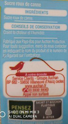 Cassonade - Sucre roux pure canne - Ingrédients - fr