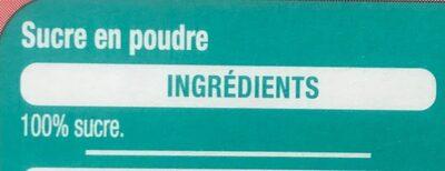 Sucre en poudre - Ingrédients