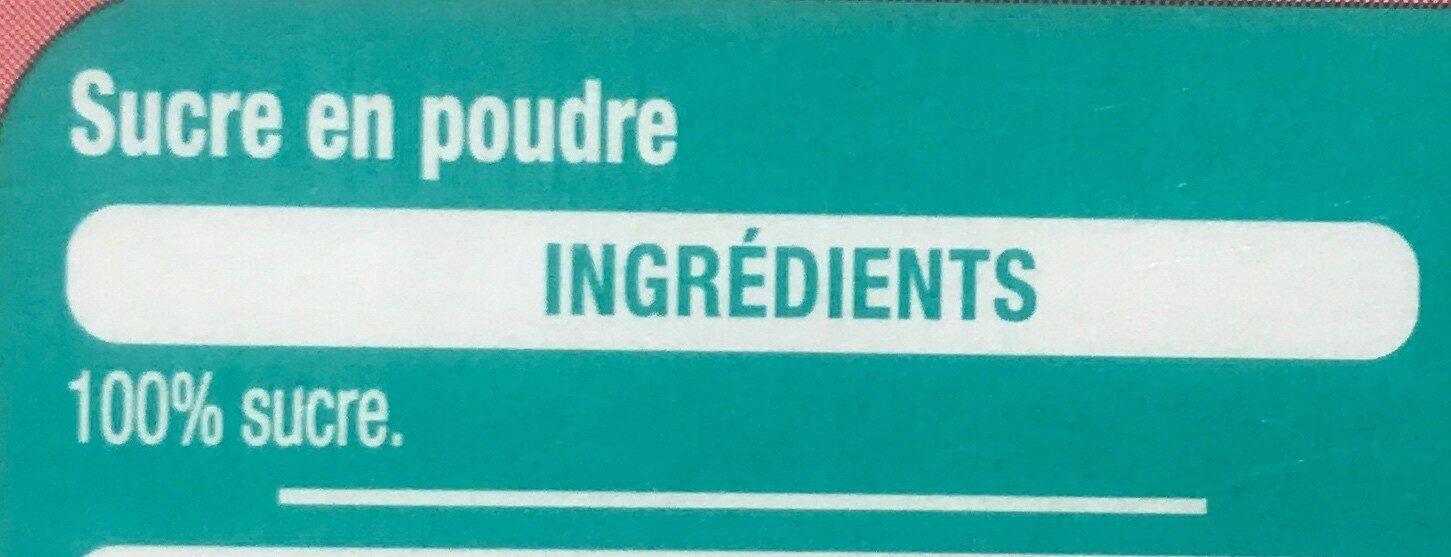 Sucre en poudre - Ingrediënten - fr