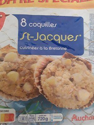 8 coquilles st-jacques cuisinés à la bretonne - Product