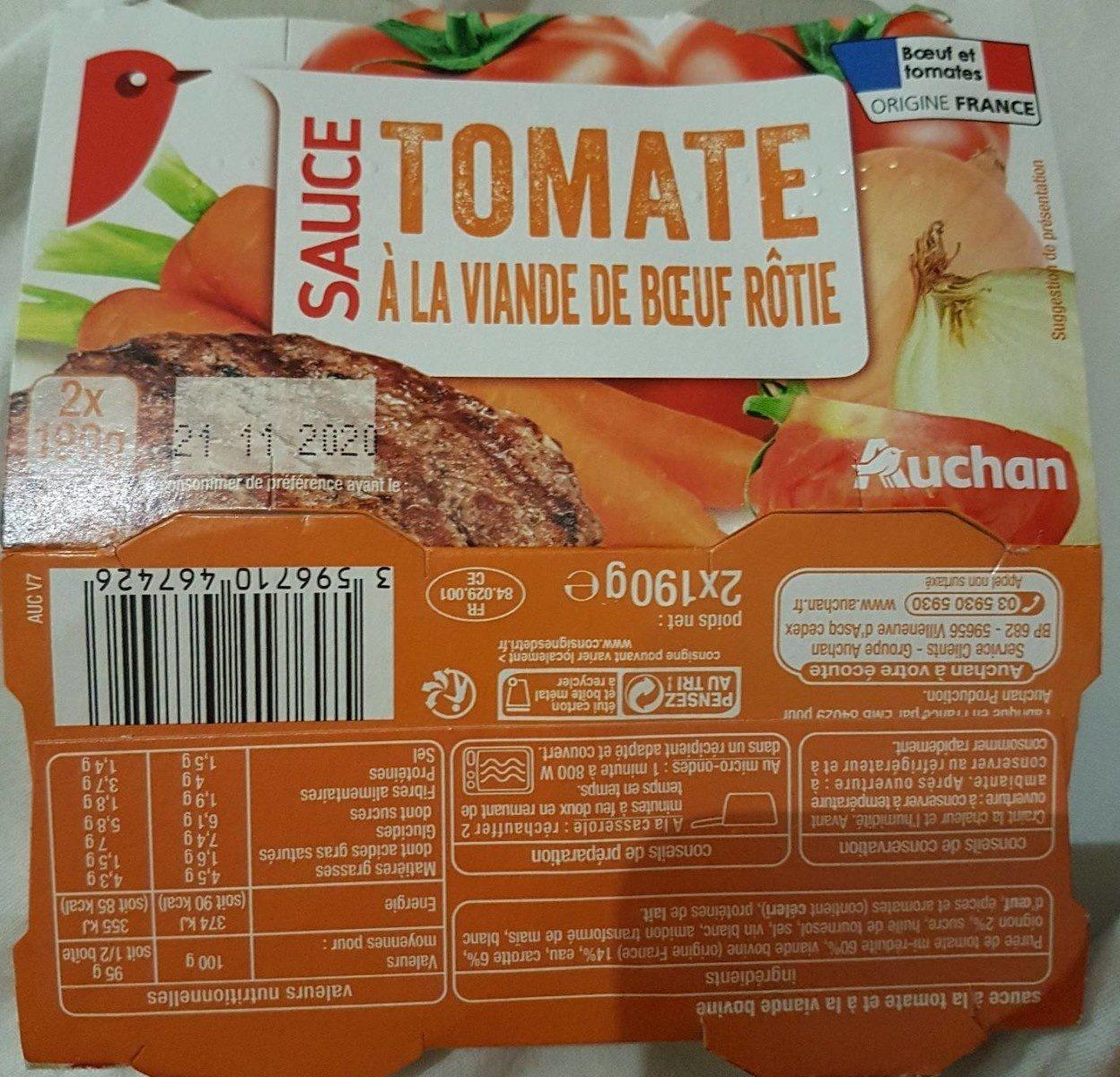 Sauce tomate à la viande de boeuf rôtie - Produit