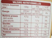 Sauce tomate à la viande de boeuf rôtie - Informations nutritionnelles - fr