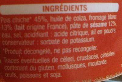 Houmous - Ingrédients - fr