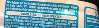 Boisson aux fruits Grenade - Ingredients