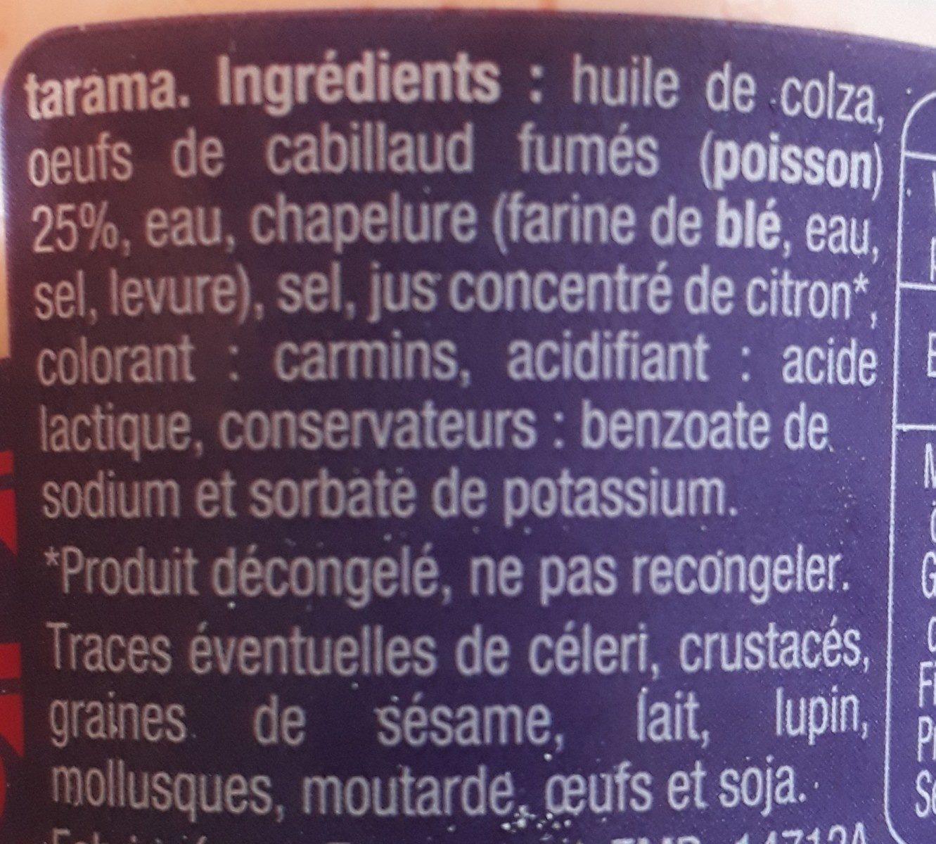 Tarama aux œufs de cabillaud - Ingrédients - fr