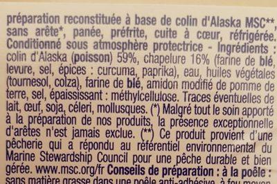 Colin d'Alaska Les Panés - Ingrediënten