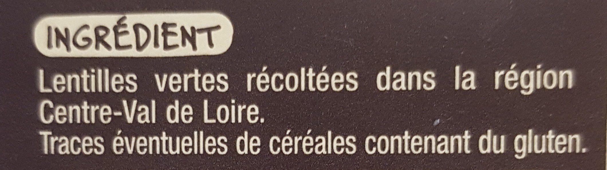 Lentilles vertes du Centre-Val de Loire - Ingredients - fr