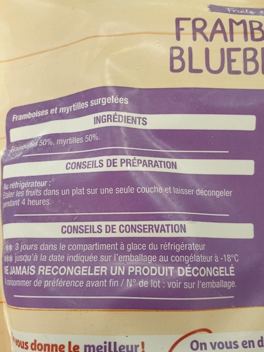 framboise blueberries auchan - Ingrédients - fr