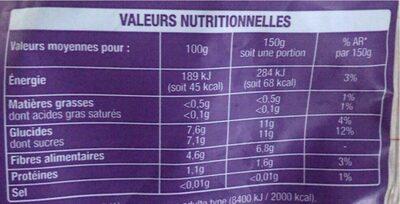 framboise blueberries auchan - Informations nutritionnelles - fr