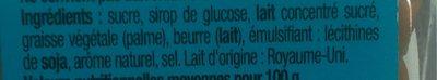 Pépites fudge caramel - Ingrédients