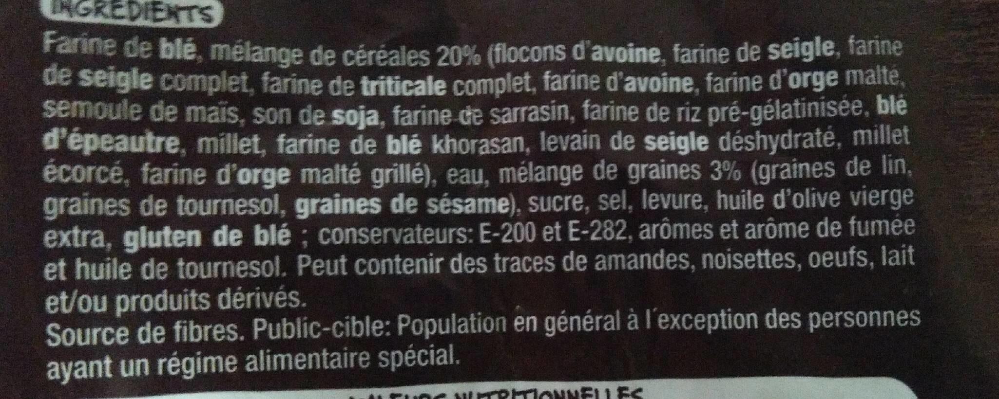 Pain rustique céréales et graines - Ingredienti - fr