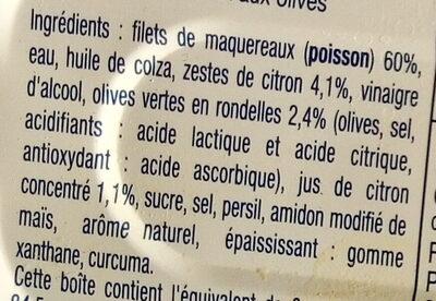 Filets de Maquereaux au citron et aux olives - Ingredienti